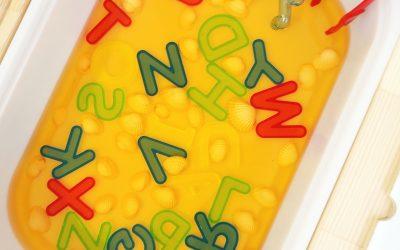 Alphabet Soup Sensory Play