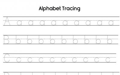 Lowercase Alphabet Tracing